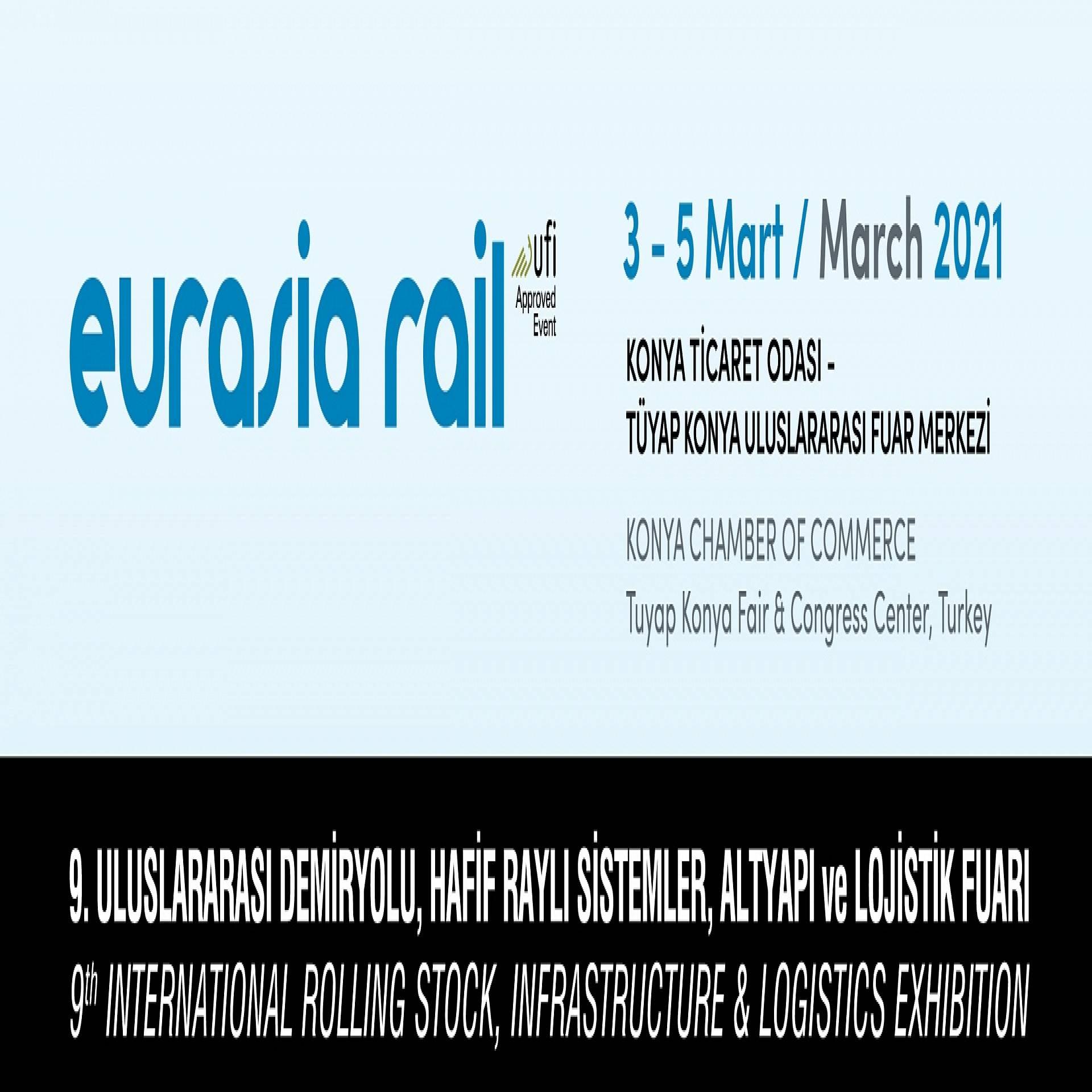 9. Uluslararası demiryolu, hafif raylı sistemler, altyapı ve lojistik fuarı